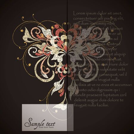 Vintage card design for greeting card, invitation, menu, cover Stock Vector - 17780330