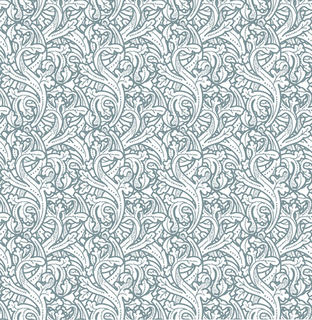 Seamless vintage background Vector background for textile design. Wallpaper, background, baroque pattern