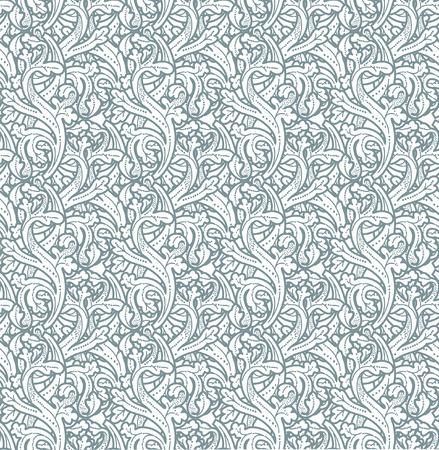 Seamless vintage background Vector background for textile design. Wallpaper, background, baroque pattern Imagens - 42089986