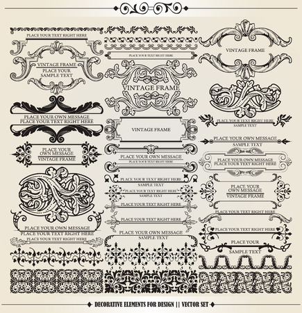 embellish: Vector set: calligraphic design elements and page decoration - lots of useful elements to embellish your layout Illustration