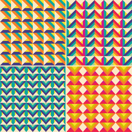 color tangram: Set of Vector seamless background for your design. Vector illustration.