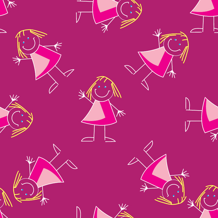 coating: Seamless pattern with cartoon elements. Vector illustration.