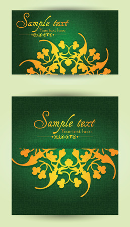 announcements: Vintage business cards, invitations or announcements. Illustration