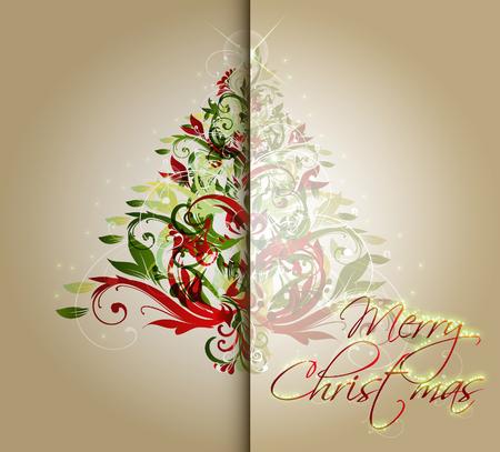 greeting christmas: Christmas Greeting Card.Vector illustration