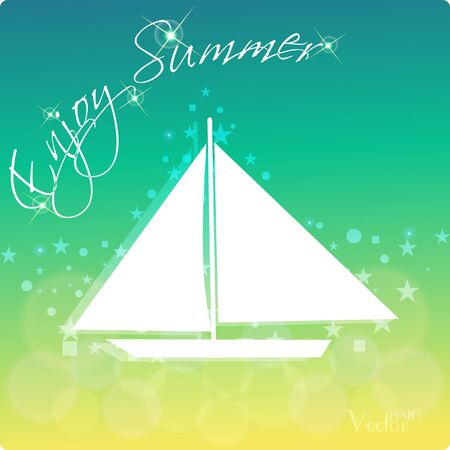 summer's: Summers background with text - illustration. Vector illustration of a glowing Summer time background.