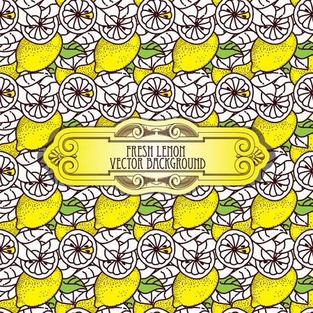 kitchen scraps: Lemon seamless pattern