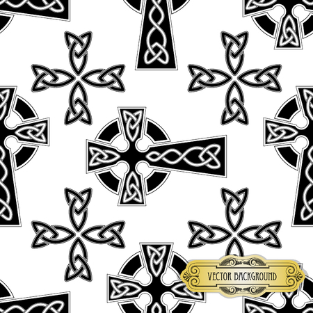 keltische muster: Vector celtic cross seamles