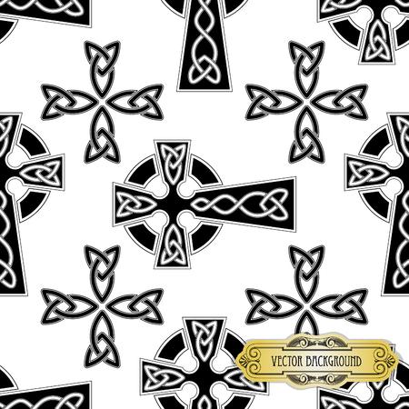 religious cross: Vector celtic cross seamles