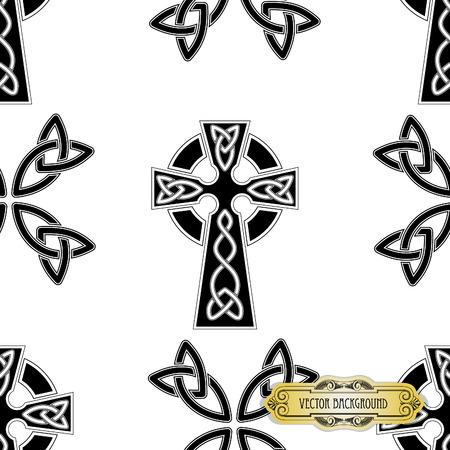 celtic: Vector celtic cross seamless Illustration