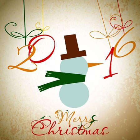 christmas greeting card: Christmas Greeting Card. Merry Christmas. Vector illustration