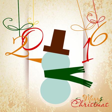 greeting christmas: Christmas Greeting Card. Merry Christmas. Vector illustration