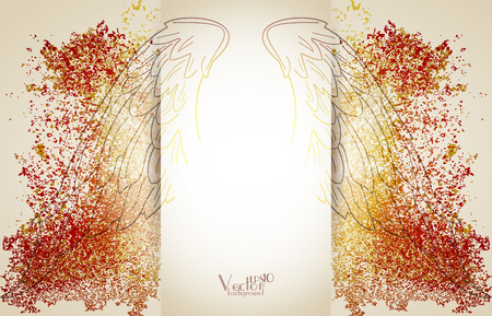 wings vector: Background with Wings. Vector illustration