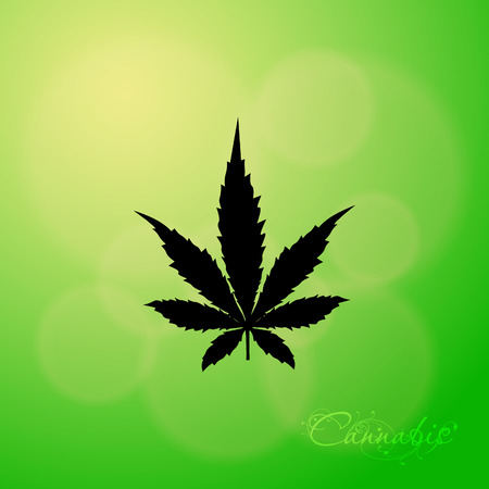 cannabis: Cannabis leaf icon - Vector