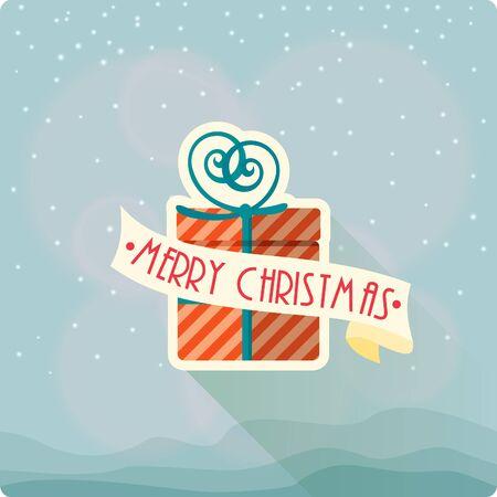 christmassy: Christmas Greeting Card. Merry Christmas vector illustration