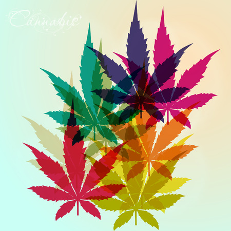 Cannabis leaf background Vectores