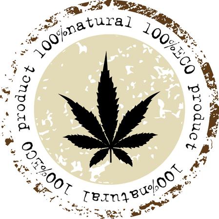 Cannabis leaf icon. Eco Product - Vector Stock Vector - 52070947