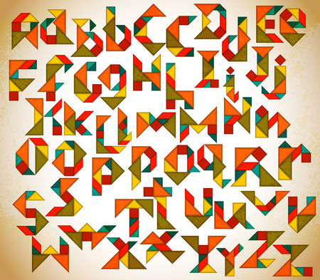 Abstract Tangram Alphabet