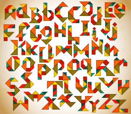 Streszczenie alfabetu Tangram