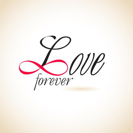 forever: Infinity love, forever love Illustration
