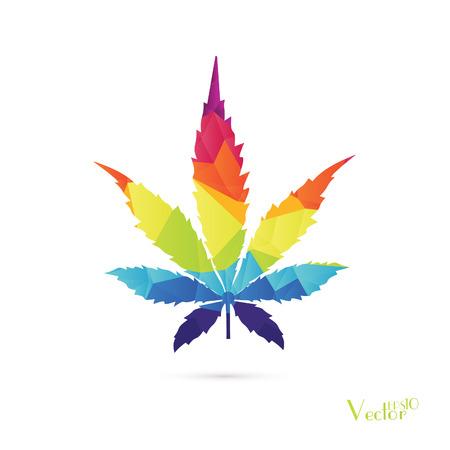 tetrahydrocannabinol: Cannabis leaf background Illustration