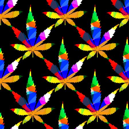 dope: Cannabis leafs - seamless pattern