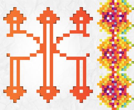 italics: Russian geometric Alphabet