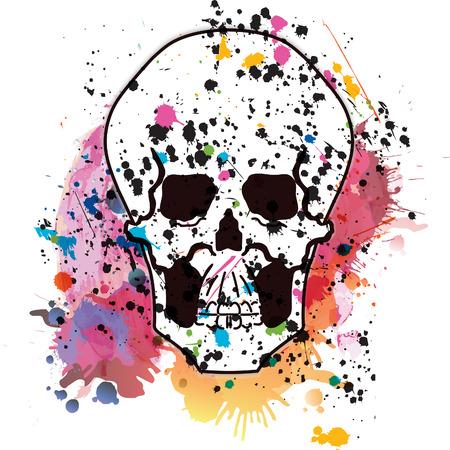 Vector skull on a grunge background