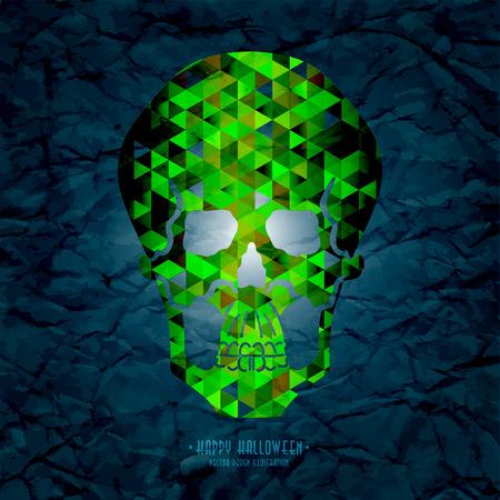 Conceptual human skull. Vector illustration.