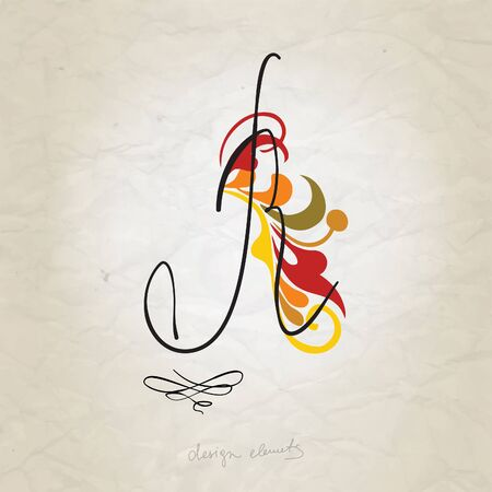 Hand Drawn Vintage Alphabet Vector Illustration