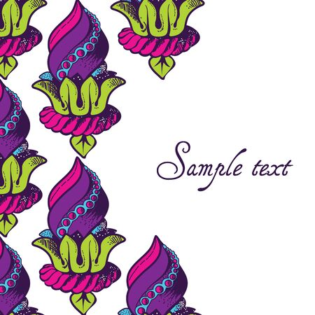 calligraphic design: Calligraphic design element and page decoration for your design Illustration