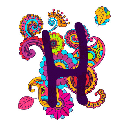 Hand Drawn Doodling Alphabet Illustration