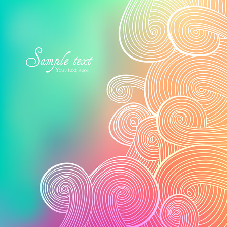 Colorful linear wavy texture. Endless abstract pattern. Template for design and decoration