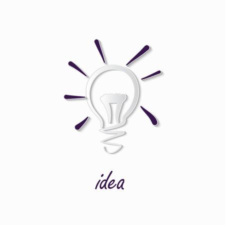 Doodle Lamp - Idea. stylish conceptual digital light bulb idea design