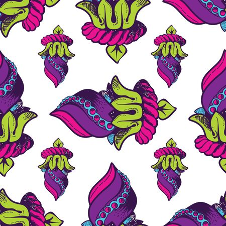 Vector Seamless Pattern. Hand Drawn Texture, Decorative Elements for Your Design