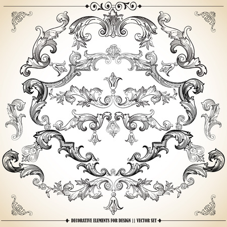 Ornate elements and page dividers. lots of useful elements to embellish your creative layout, greeting cards, invitations, books, brochures. Illustration