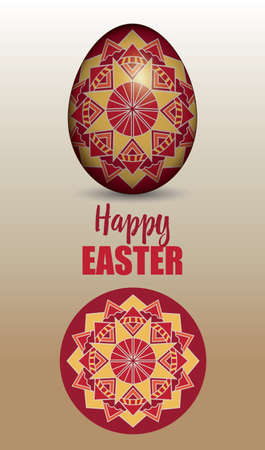 russian easter: Russian easter egg with traditional ornament
