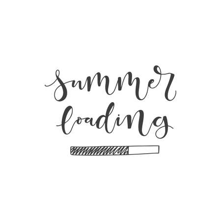 Lettering with phrase Summer loading. Vector illustration.
