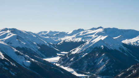 Snowcaped mountains in Berthoud Pass, Colorado. Stock Photo - 8827630