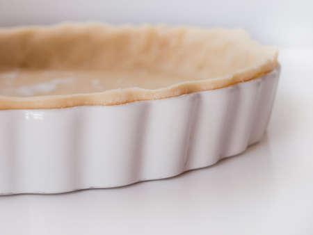 white backing: Pie crust. Stock Photo