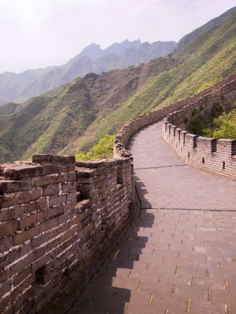 The Great Wall of China at the Mutianyu section near Beijing. photo