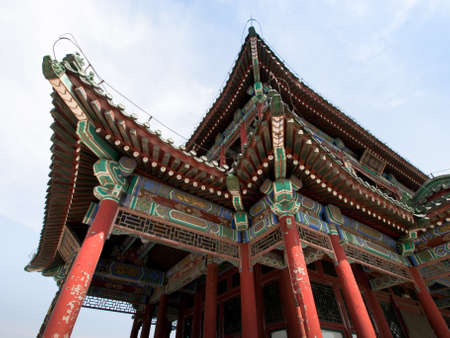 Temple in Summer Palace in Beijing, China. photo