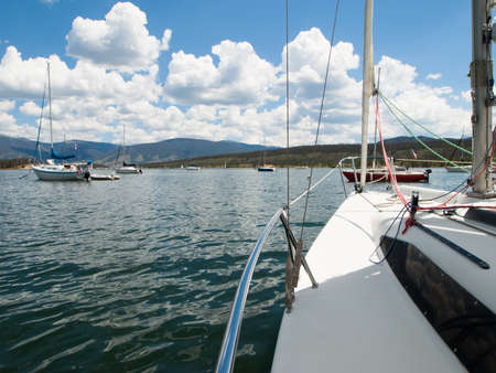 Sailing on the Lake Dillon, Colorado.