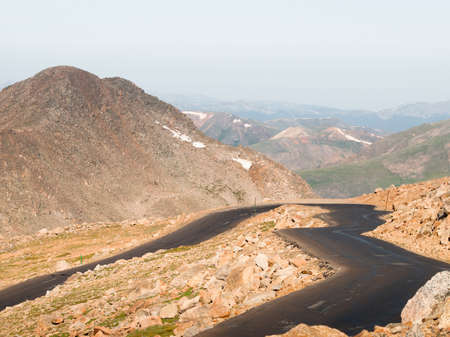 A road to the pick of Mount Evans.