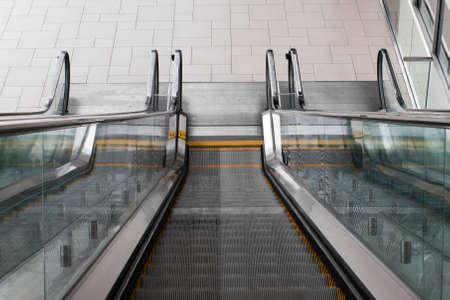 Escalator at the Colorado Convention Center in Downtown Denver. Banco de Imagens