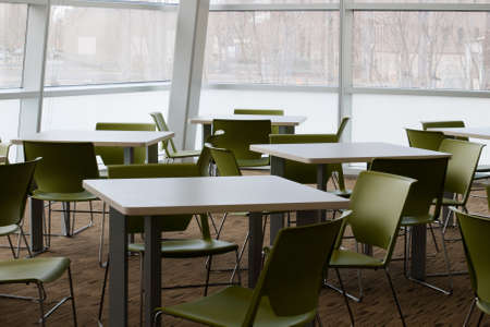 Break room with glass windows. Stock Photo - 9416964