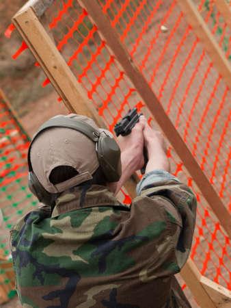 Target shhoting at the Colorado State IDPA Championship. Stock Photo - 9640057