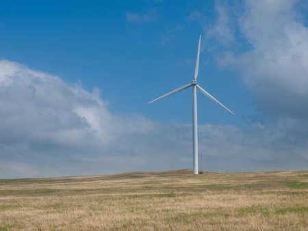 Wind turbines farm with alternative energy source in Cheyenne,  WY. Stock Photo - 9639982