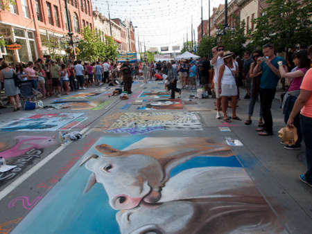 Denver Chalk art Festival on larimer Square. June 4, 2011. Denver, Colorado.