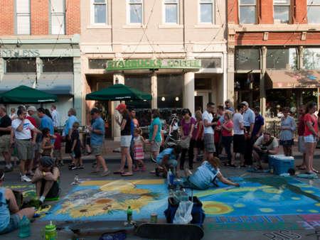 Denver Chalk art Festival on larimer Square. June 4, 2011. Denver, Colorado.