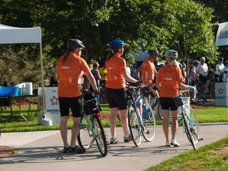 road cycling: 16th annual Goose Chase of Greenwood Village, Colorado. Family-oriented bike and walkrun event.